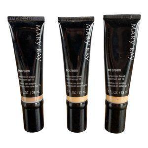 Lot of 3 Mary Kay CC Cream Sunscreen SPF 15 DEEP